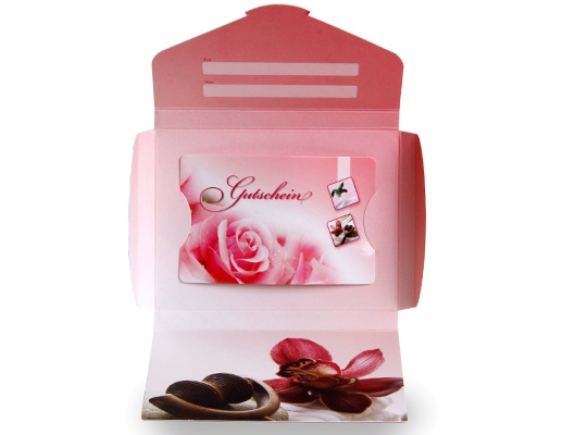 "Gutscheinkarte Cute Case ""duftende Rose"""